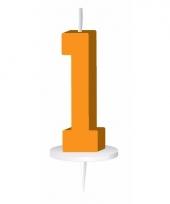 Oranje nummer kaarsje cijfer 1 trend