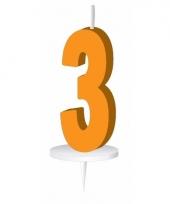 Oranje nummer kaarsje cijfer 3 trend
