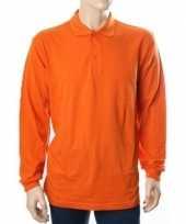 Oranje polo shirts met lange mouwen trend