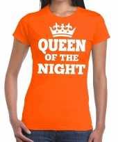 Oranje queen of the night-shirt dames trend