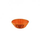 Oranje rieten mandje 25 cm trend