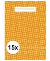 Oranje school schriften a4 met lijntjes 15 x trend