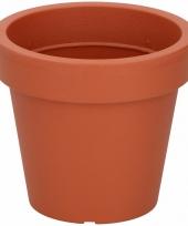 Oranje sierpot 13 cm voor binnen of buiten trend