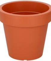 Oranje sierpot 19 cm voor binnen of buiten trend