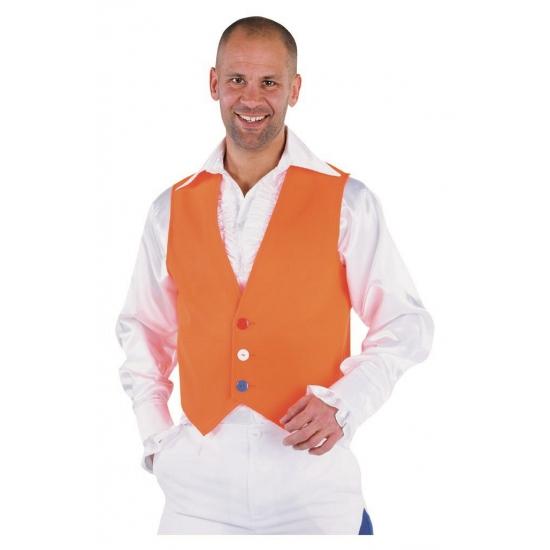 Oranje supporters gilet voor heren trend