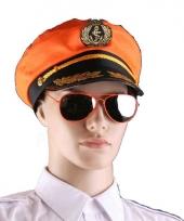 Oranje supporters zonnebril piloot trend