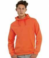 Oranje sweaters met capuchon trend
