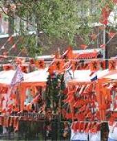 Oranje versierings pakketten groot trend