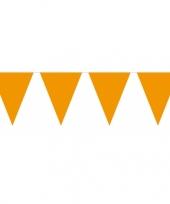 Oranje vlaggentjes slinger 10 meter trend