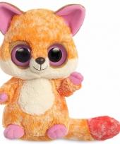 Oranje vos knuffel 28 cm met grote ogen trend