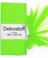 Organza stof neon groen op rol 150 x 300 cm trend