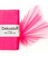 Organza stof neon roze op rol 150 x 300 cm trend