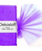Organza stof paars op rol 150 x 300 cm trend