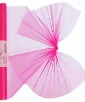 Organza tule rol neon roze 40 x 200 cm trend