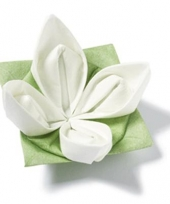 Origami servet 12 stuks witte bloem trend