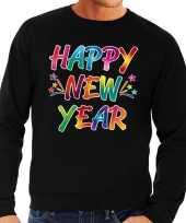 Oud en nieuw trui sweater happy new year zwart voor heren trend