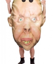 Oude man hoofd kostuum trend