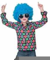 Overhemd met 70s disco print voor kinderen trend