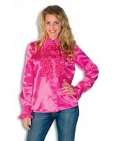 Overhemd met rouches voor dames trend 10029254