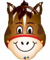 Paard dieren folie ballon 80 cm trend