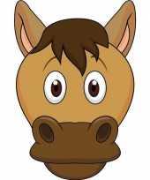 Paarden maskers van karton trend