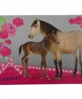 Paarden placemat grijs 43 x 30 cm trend