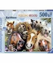 Paarden selfies puzzel 500 stukjes trend
