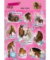 Paarden stickers 10 stuks set 3 trend