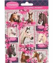 Paarden stickers 10 stuks set 4 trend