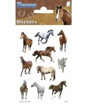 Paarden stickers 3 vellen trend