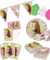 Paarden thema kinderfeestje versiering pakket 7 12 personen trend