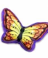 Paars met oranje vlinderkussen 50 cm trend