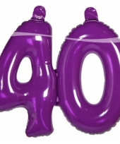 Paarse cijfers 40 opblaasbaar trend