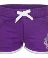 Paarse frozen pyjama shorts trend