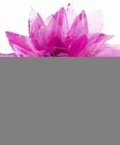 Paarse haarbloem met glitters trend