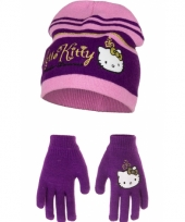 Paarse hello kitty winterset trend