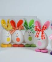 Paasfeest versiering konijntjes 3 stuks trend
