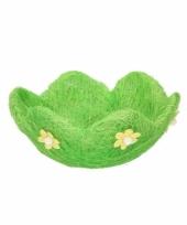 Paasontbijt bloem mandje voor eieren trend
