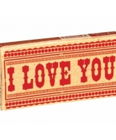 Pakje kauwgom met tekst i love you trend