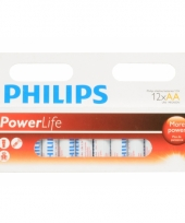 Pakket 12 alkaline philips batterijen aa trend