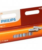 Pakket met 12 philips long life aaa batterijen trend