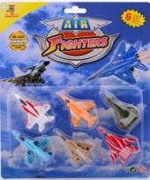 Pakket van 6 speelgoed vliegtuigen trend