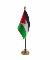 Palestina tafelvlaggetje 10 x 15 cm met standaard trend