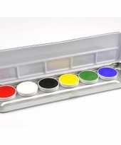 Palet met 6 kleuren schmink trend
