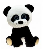 Pandabeer knuffel zittend 30 cm trend