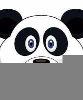 Pandaberen maskers van karton trend