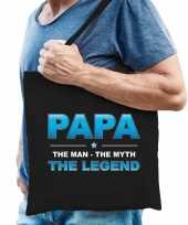 Papa the legend cadeau tas zwart voor heren trend