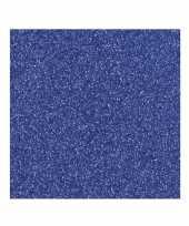 Papier glitter donkerblauw vel trend