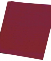 Papier pakket bordeaux rood a4 50 stuks trend