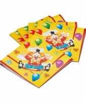 Papier servetten clowntjes 20 stuks trend